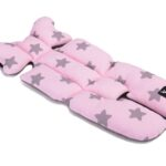 Air gwiazdki na różowym bawełna/siatka szara